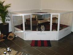 large indoor corner rabbit cage - Google Search