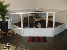 large indoor corner rabbit cage - Google Search