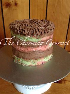 Spumoni Cake-pistachios,maraschino cherries,almonds, chocolate- modeled after the classic Italian dessert , Spumoni ice cream