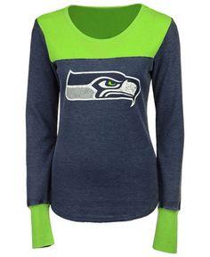 Touch by Alyssa Milano Women s Seattle Seahawks Blindside Thermal Long  Sleeve T-Shirt Women - Sports Fan Shop By Lids - Macy s 6131e2856
