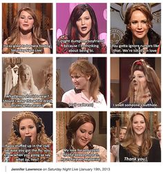 Jen being funny for SNL