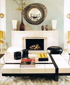 Home Of Designer Hervé Van Der Straeten Fireplace Modern, Fireplace Mantle,  Stone Fireplaces,
