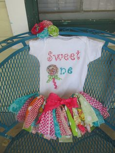 Sweet One Lollipop tutu, top, and bow