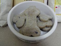 Blueberry Flax PupBiscuits  Large by Mclovinpupbiscuits on Etsy, $8.50