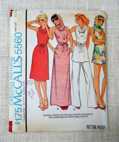 Vintage McCalls 5560 pattern 1970s sewing by momandpopcultureshop