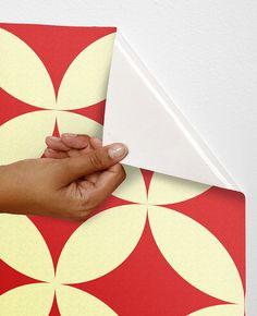 Removable self-adhesive modern vinyl Wallpaper wall sticker - Circle pattern wall decor C015 on Etsy, $36.00