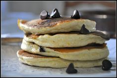 #wisjm Orange Scented Ricotta Pancakes with Chocolate Chips