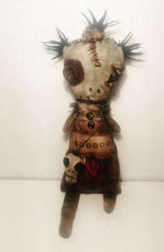 Handmade Voodoo Doll Voodoo Corbeau by JunkerJane on Etsy