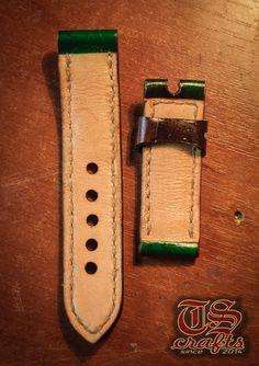 my new Emerald Green panerai 24mm strap