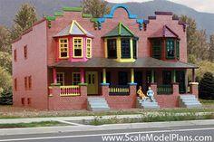 """HO Scale model train buidlings: """"Painted Ladies""""  Victorian houses"""