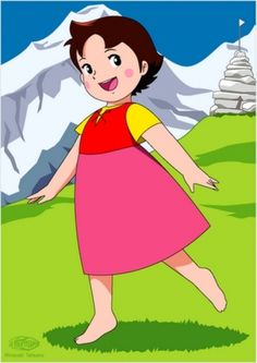 Heidi by Johanna Spyri. The curious little girl in the mountain who had a… Heidi by Johanna Spyri. The curious little girl in [. Cartoon Cartoon, Heidi Cartoon, Vintage Cartoon, Cartoon Characters, Fictional Characters, Old Anime, Animated Cartoons, Sweet Memories, Betty Boop