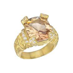 Judith Ripka Smoky Quartz & Diamond Cocktail Ring   Betteridge