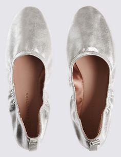 M/&S Ballet School Shoes Insolia Girls UK Size 1 Size 9 Eur 43 NEW Eur 33