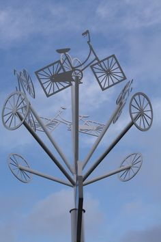 Modern outdoor steel sculpture by Pete Moorhouse Steel Sculpture, Public Art, Islamic Art, Art Education, Wind Turbine, Modern Contemporary, Abstract, Outdoor, Sculptures