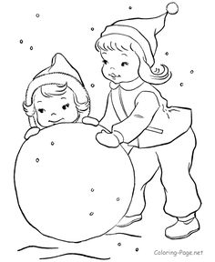 Printable Winter Coloring Pages Winter colors Snowman and Winter