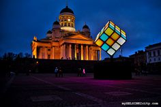 Lux Helsinki illuminated the downtown of Helsinki.