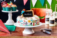 #Einschulung #Ideen #Torte #Cupcakes #Kaffeeklatsch #Tischdeko #Schultüte #school #enrollment #ideas #deco #sweet #table #cake #gateau
