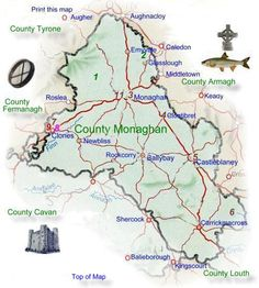 "County Monaghan in Ireland. Our ancestral name of ""Brady"" is found here, and primarily in County Cavan."