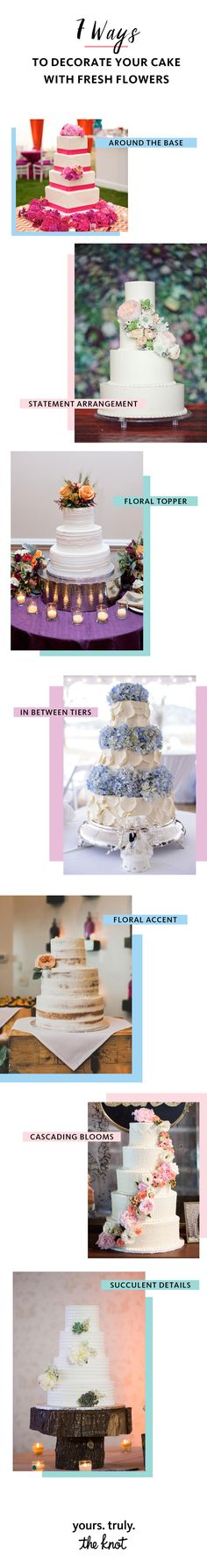 7 Ways to Decorate Your Wedding Cake Beautifully With Fresh Flowers |