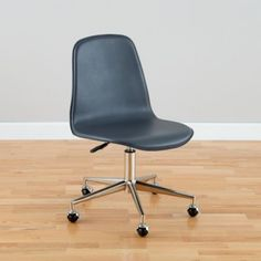 Class Act Desk Chair (Grey) - pull two of these up to the current desk for the homework zone. These have a fairly low profile and because they do not have arms, can slide under the desk and not get tangled together!