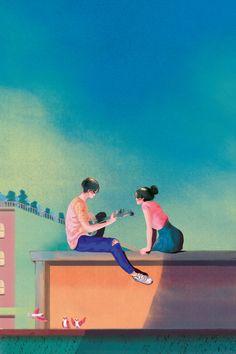 Cute Couple Art, Anime Love Couple, Cute Couples, Best Caption For Facebook, Desenhos Love, Polo Norte, Wattpad Book Covers, Double Picture, Light Background Images