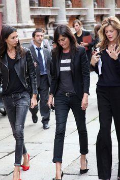 Thestreetfashion5xpro: In the Street...Emmanuelle Alt, Milan