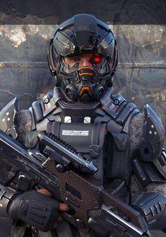 Science fiction soldier helmets ideas for 2019 Armor Concept, Concept Art, Science Fiction, Killzone Shadow Fall, Combat Armor, Futuristic Armour, Futuristic Helmet, New Retro Wave, Arte Robot