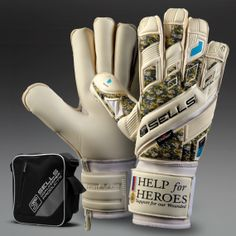 Sells Total Contact Help for Heroes GK Gloves - White - Camo - Size 9 #pdsmostwanted