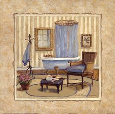 Charlene Winter Olson - Romantic Bath II - art prints and posters