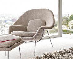 """My favorite Chair of all time! The """"Womb Chair"""" Classics from Knoll® - Design Within Reach Saarinen Chair, Knoll Chairs, Eero Saarinen, Lounge Chairs, Dining Chairs, Furniture Sale, Furniture Design, Furniture Online, Plywood Furniture"""