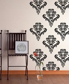 10 Damask Wall Decal Art Decor Stickers By HappyWallz On Etsy
