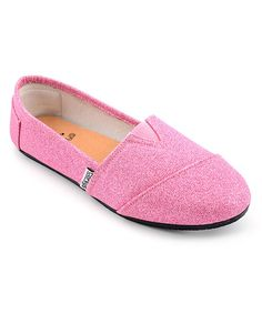 Take a look at this Pink Glitter Sues Slip-On Shoe on zulily today!