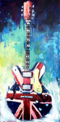 Union Jack Epiphone guitar painted live on September 26th at Terminal West in Atlanta. 24 x 48 Acrylic on canvas. http://www.roylaws.com/#!Union-Jack-Epiphone-Guitar---750/zoom/crbp/image4hd