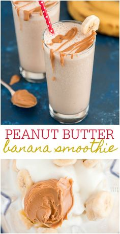 Peanut Butter Banana Smoothie Looking for a way to use up your ripe bananas? Enjoy a tall glass of creamy Peanut Butter Banana Smoothie this summer for a satisfying breakfast or afternoon snack. Fruit Smoothies, Healthy Smoothies, Healthy Peanut Butter Smoothie, Healthy Strawberry Banana Smoothie, Banana Smoothie Recipes, Simple Smoothie Recipes, Frozen Banana Smoothie, Making Smoothies, Simple Smoothies