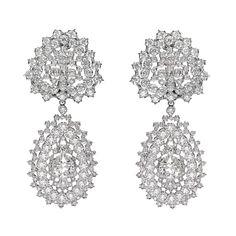 Estate Buccellati Diamond Pendant Earrings