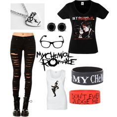 My Chemical Romance outfit! I need this so bad! Grunge Outfits, Cute Emo Outfits, Edgy Outfits, Outfits For Teens, Girl Outfits, Fashion Outfits, Skater Outfits, Disney Outfits, Fashion Boots