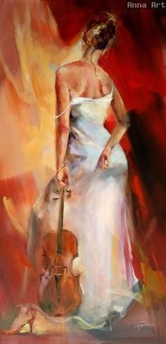 "Music fine art at Art Leaders Gallery: ""The Red Shoe II"" by Russian artist Anna Razumovskaya. Discover more affordable fine art, sculptures, hand blown glass, art gifts, and custom framing. artleaders.com 