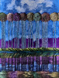 """""""Mood Swing"""" by Ford Smith  48""""x36""""  Original painting in iridescent acrylics"""