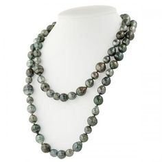 Honora Black Ringed Baroque Tahitian Cultured Pearl 36 Necklace with Sterling Silver Clasp.http://www.bengarelick.com/collections/honora-pearls/products/honora-black-ringed-baroque-tahitian-cultured-pearl-36-necklace-with-sterling-silver-clasp