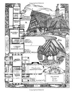 The Affordable House: David John Carnivale Victorian House Plans, Vintage House Plans, Victorian Homes, Dream House Plans, House Floor Plans, Tyni House, Storybook Homes, House Blueprints, Architecture Drawings