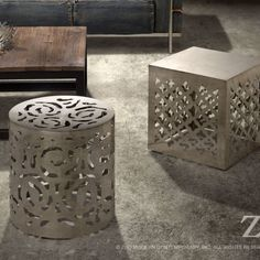 Kailua Stainless Steel Stool by Zuo Modern