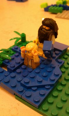 Lego John the Baptist Bible Stories For Kids, Bible For Kids, Object Lessons, Bible Lessons, Lego Bible, Kids Church, Church Ideas, Sunday School Projects, Used Legos