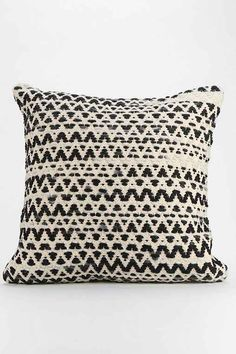 Textured Diamond-Stripe Pillow