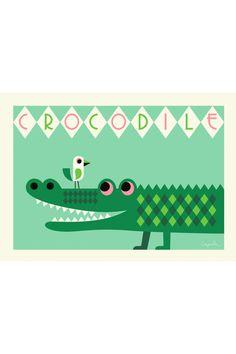 Ingela Arrhenius Crocodile Poster   OMM Design at The KID Who