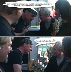 Charlie Watts to Neil..