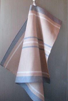 Linen Cotton Dish Towels Tea Towels Beige Sand Blue White set of 2 Linen Towels, Dish Towels, Hand Towels, Tea Towels, Hostess Gifts, Blue And White, Blue Green, Fabric Design, Hand Weaving