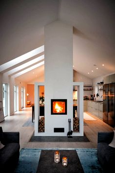 Home Fireplace, Fireplace Design, Fireplace Kitchen, Fireplace Ideas, French Interior, Interior Design, Design Room, Diy Interior, Interior Doors
