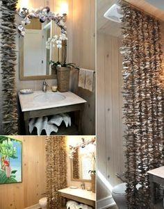 Natural Driftwood for a Spa Like Bathroom
