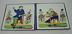 Set of 2 Soriano Ceramics Tiles