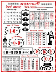 Right And Chart Kalyan Chart 2019 Bhole Baba Chart Kalyan Weekly Chart 2020